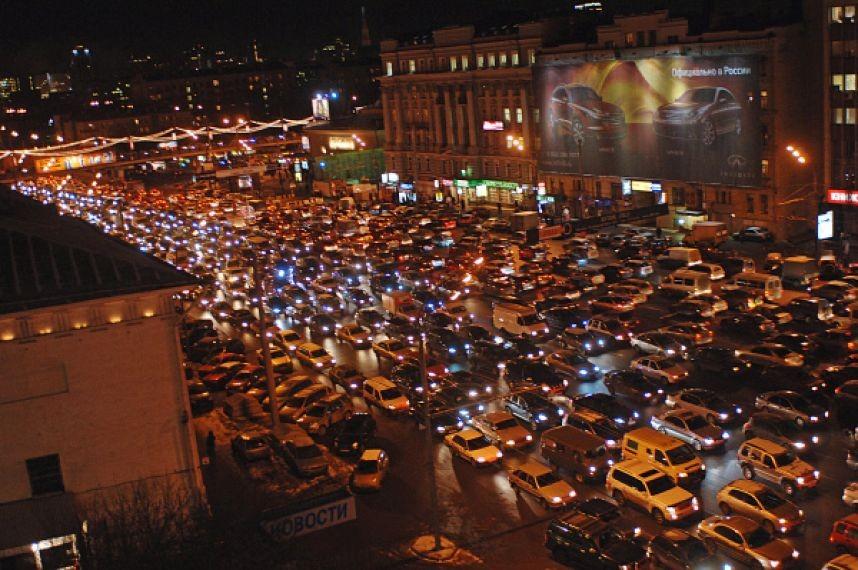 дорог Москвы перегружены