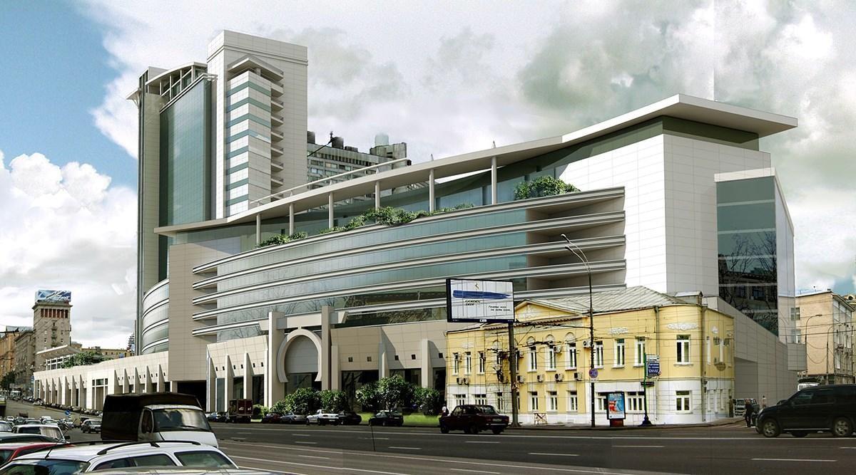 В центре Москвы горит здание торгового центра Lotte Plaza b9d1f4683df