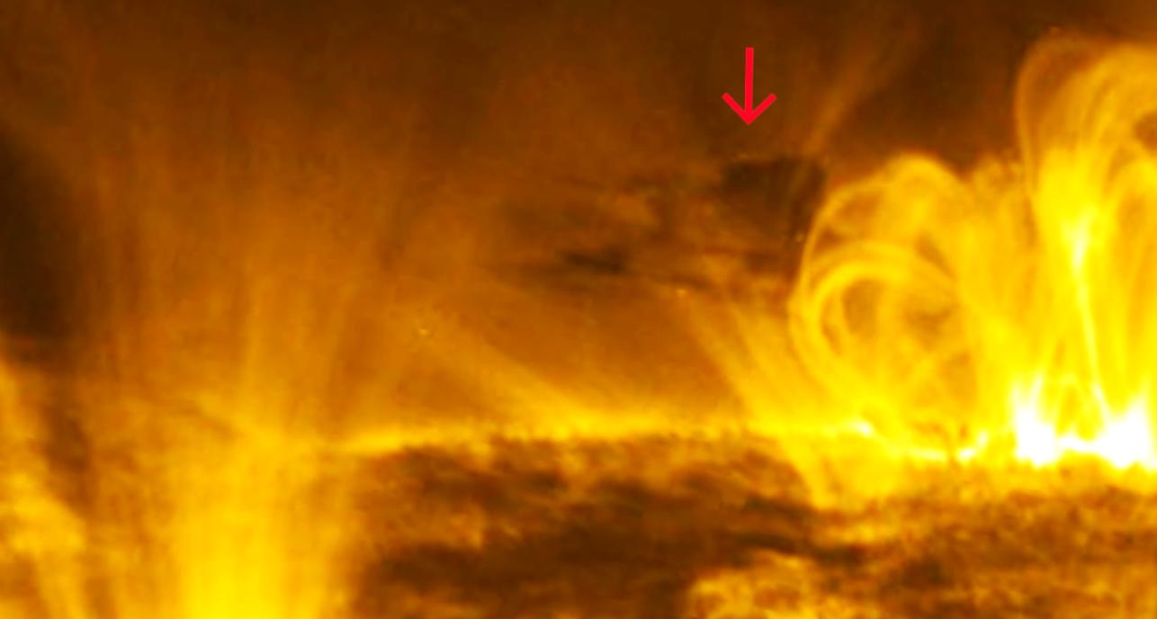 НЛО заправляющегося от Солнца