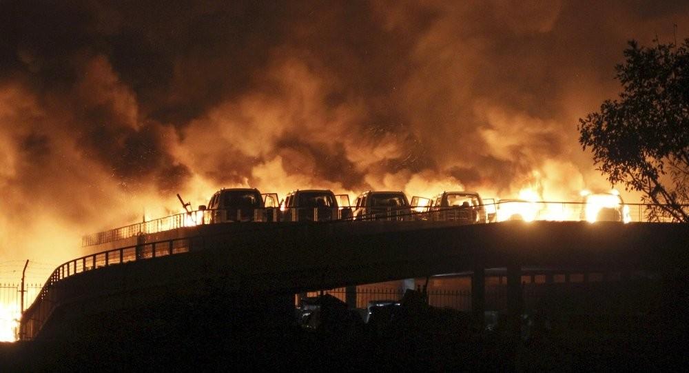 На взорвавшемся складе Тяньцзине находилось 700 тонн цианида натрия
