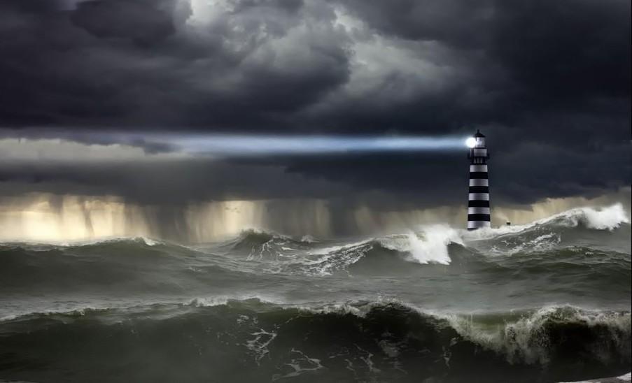 шторм в океане картинки