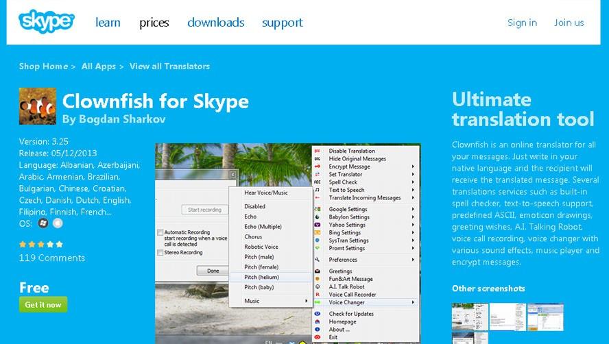 В Skype встроили быстрый переводчик Skype Translator