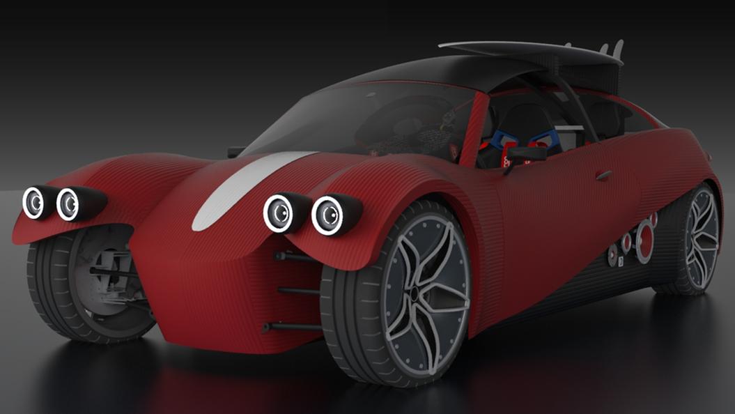 ВЛас-Вегасе представили 1-ый вмире автомобиль, созданный на3D-принтере