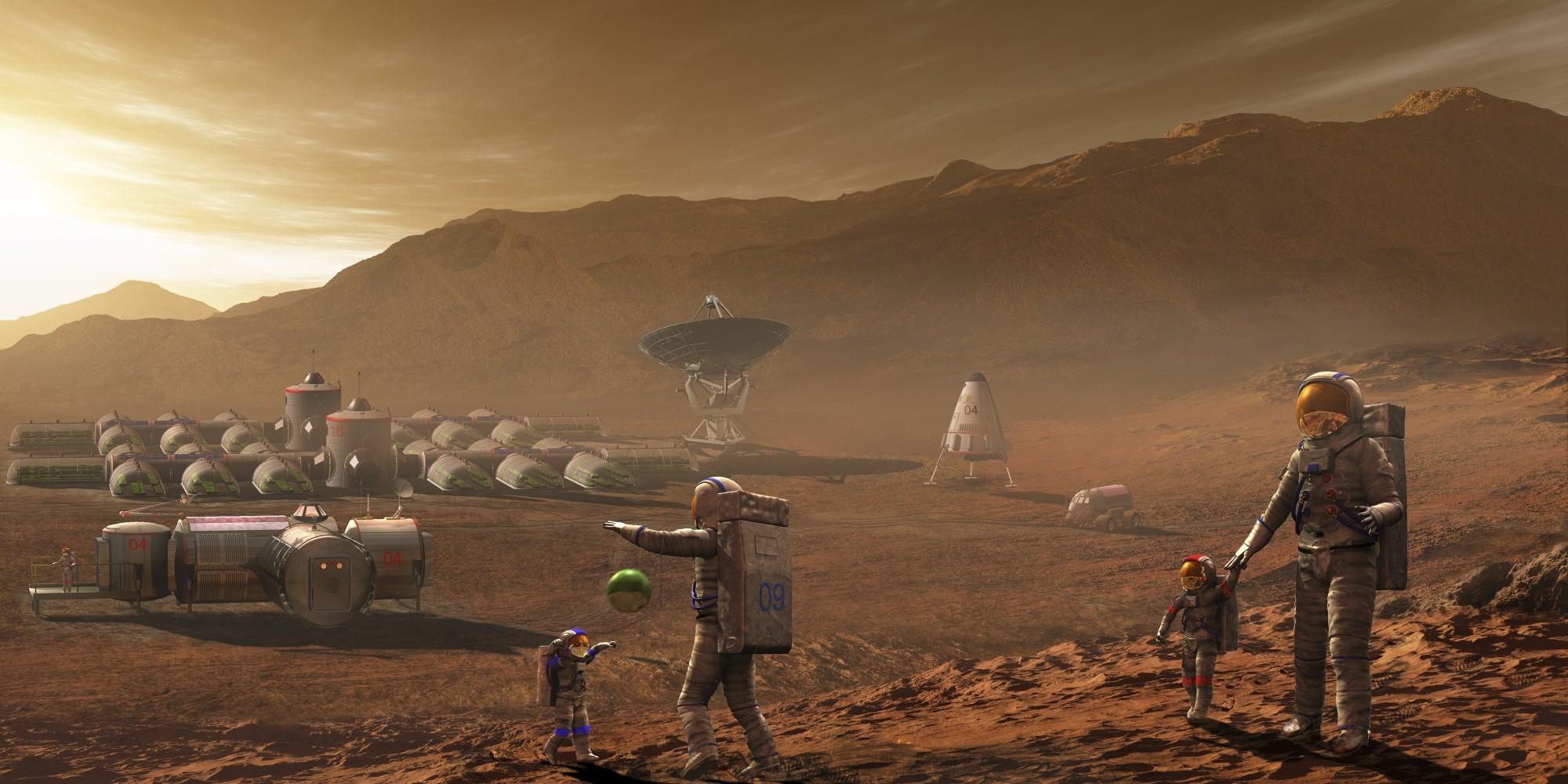NASA высадит людей наМарсе