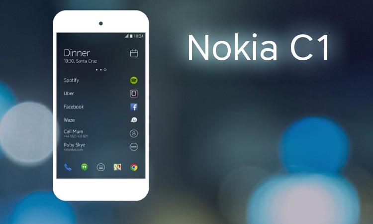 Стал известен новый рендер Nokia C1 Android и Windows 10 Mobile