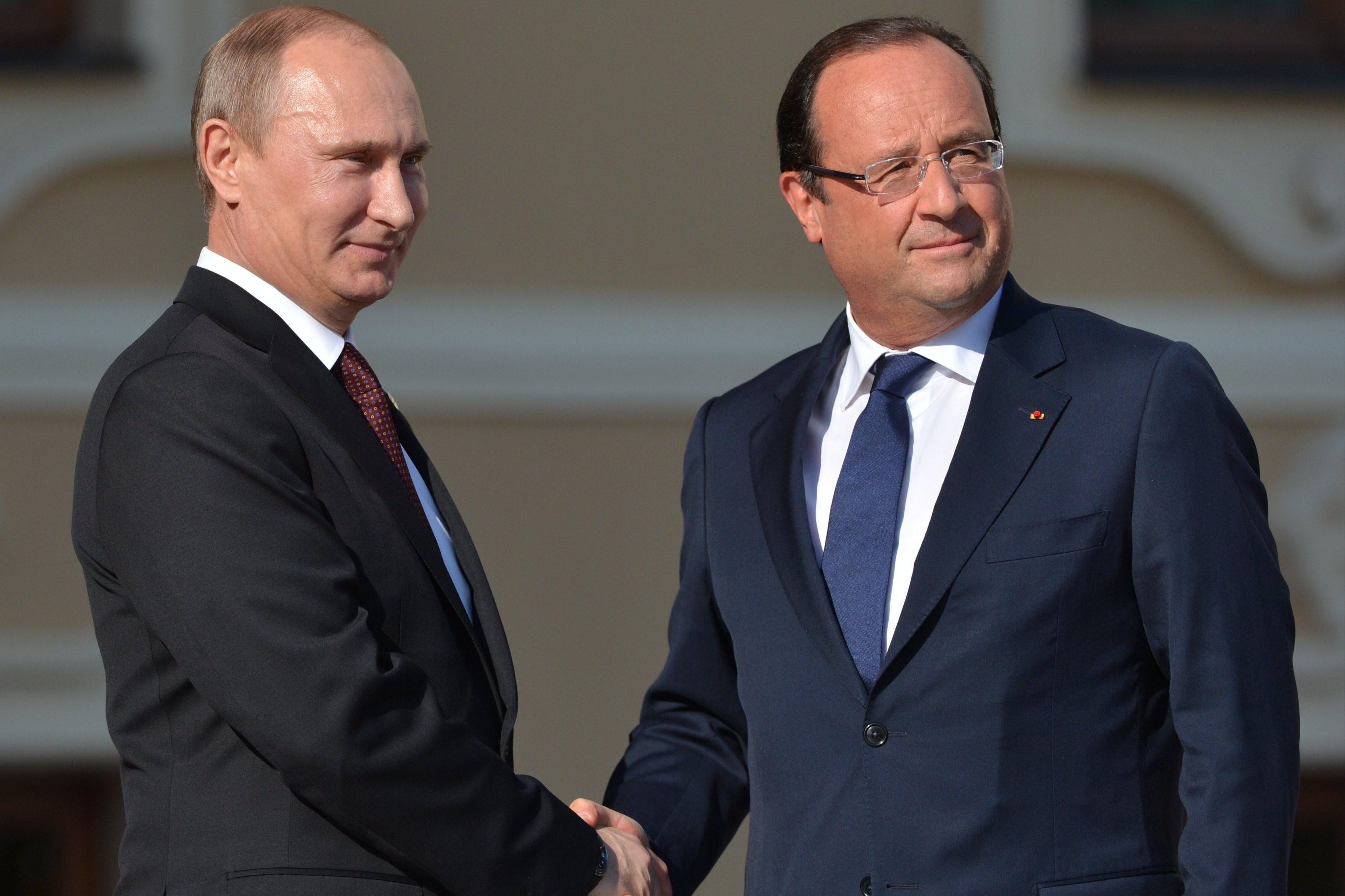 Российская Федерация иФранция едины внамерении покарать террористов— Путин