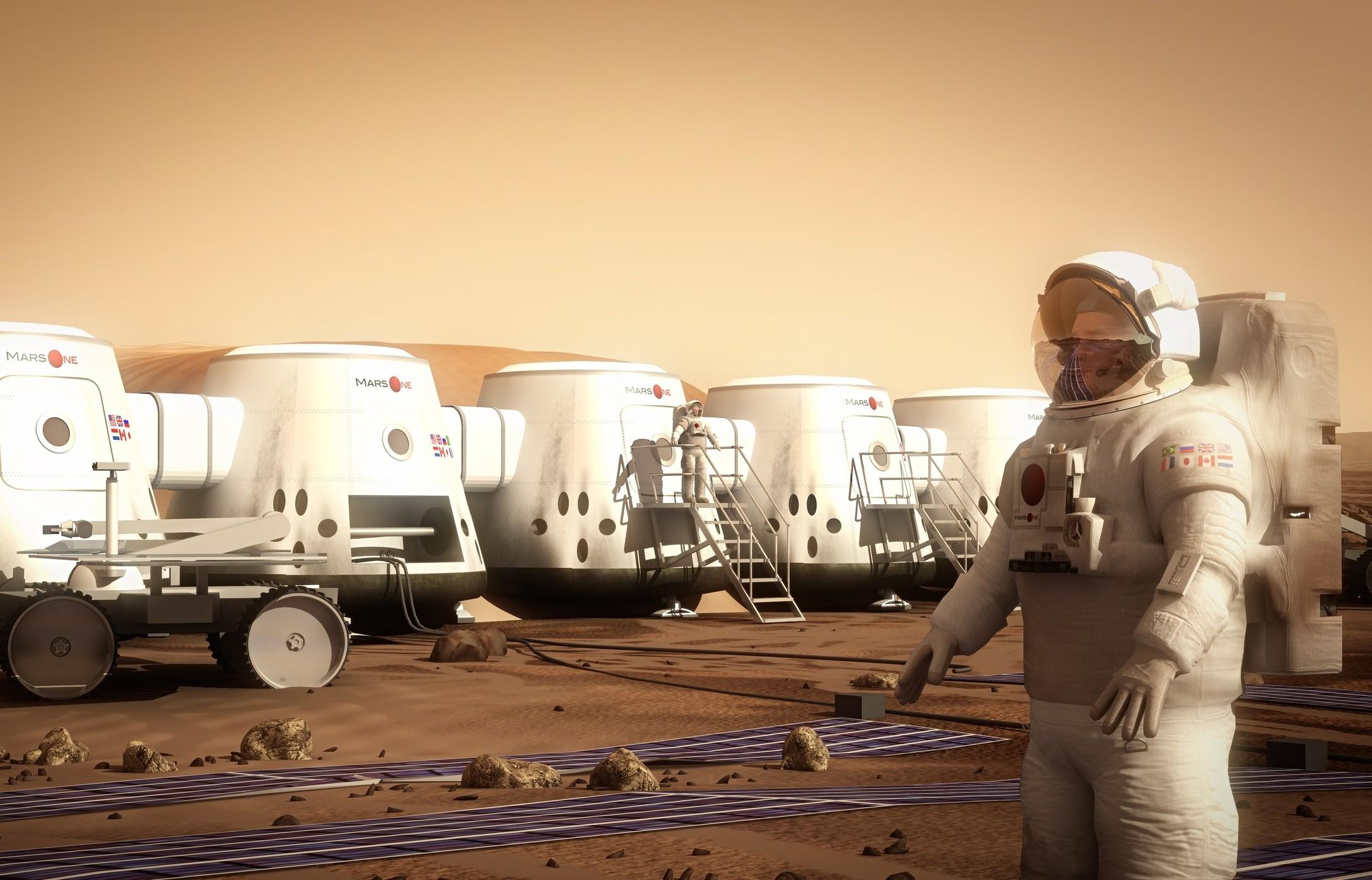 NASA показало видеоэкскурсию построительству первой колонии наМарсе
