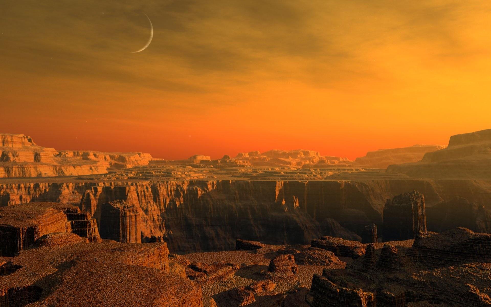 Учёные Вулкан сдвинул ось Марса 3,5 миллиарда лет назад