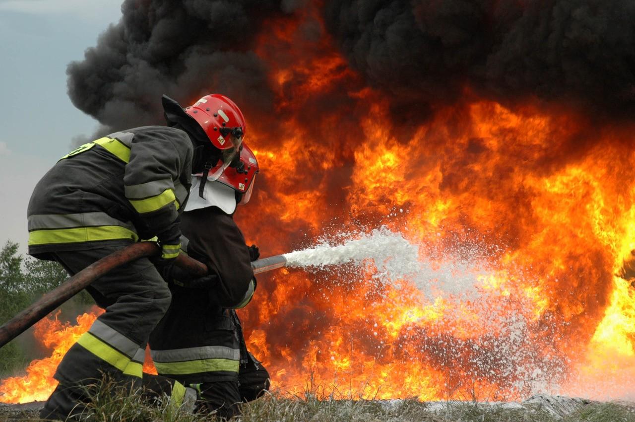 В Харькове горел дом