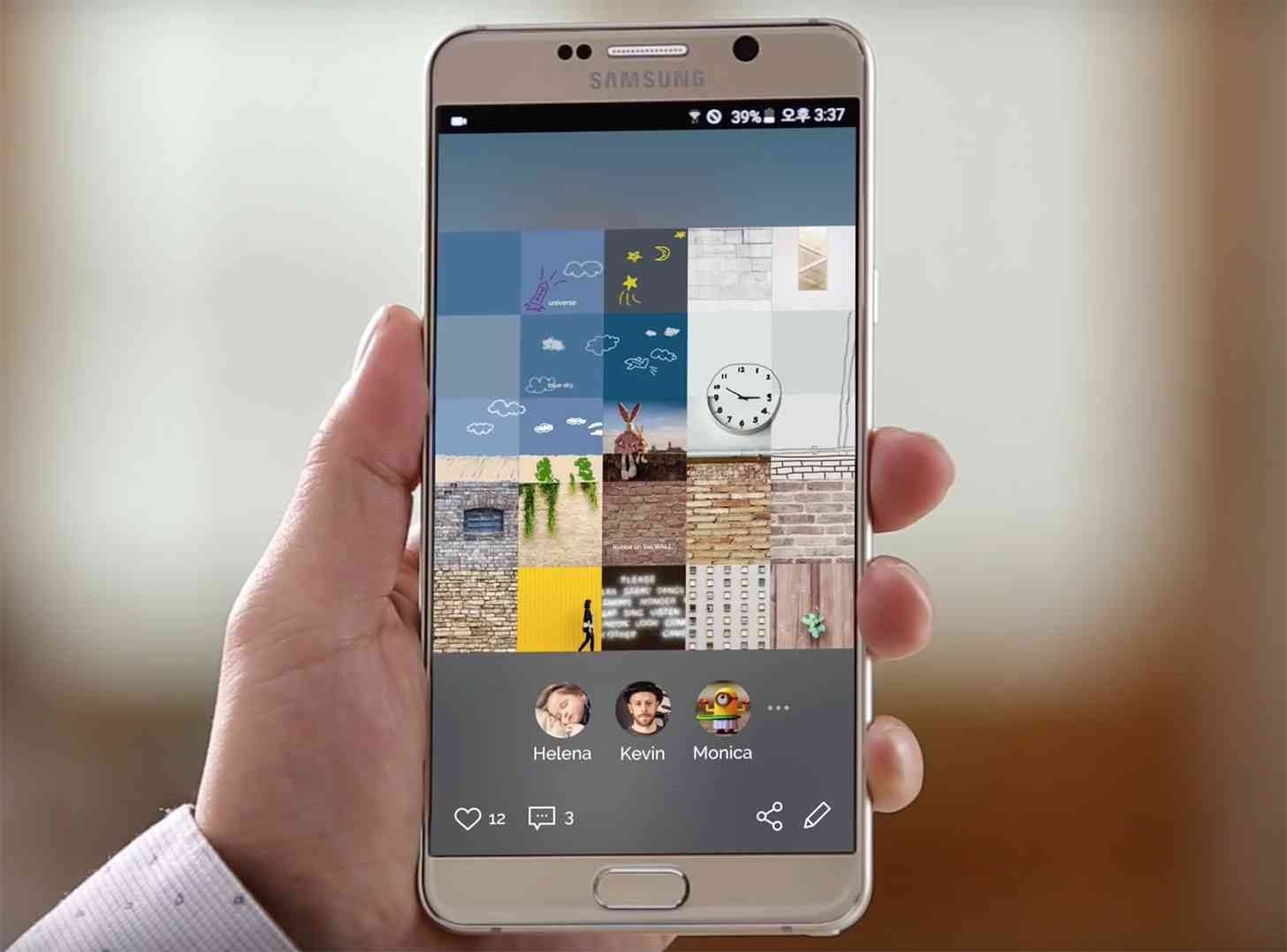 Samsung представил аналог Instagram