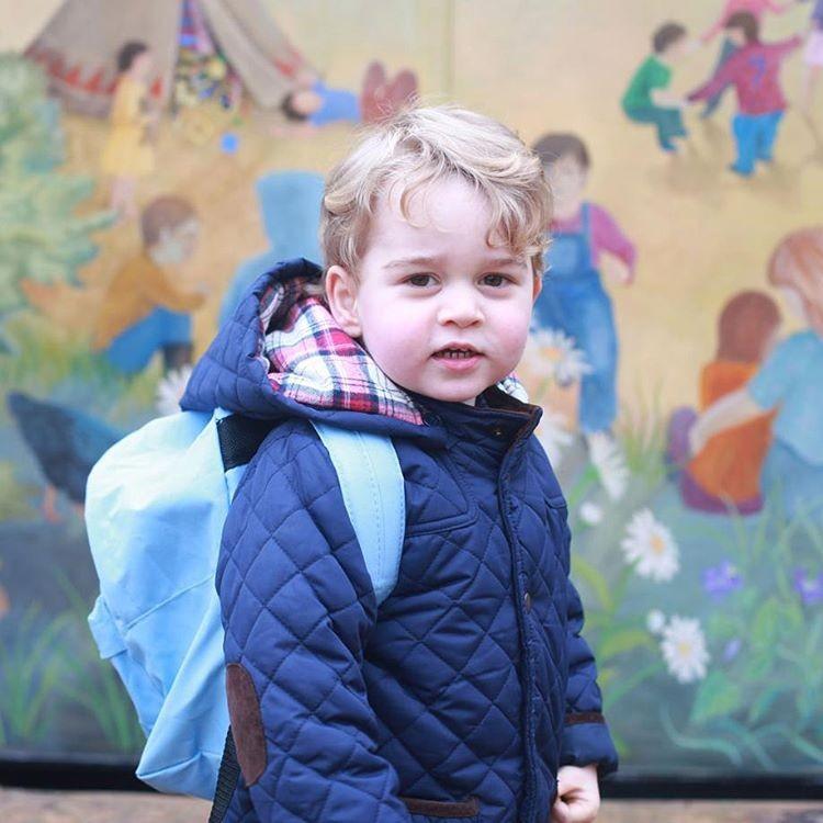 Двухлетнего принца Джорджа записали в подготовительную школу