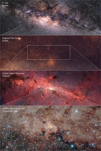 NASA опубликовало снимок центра Млечного пути