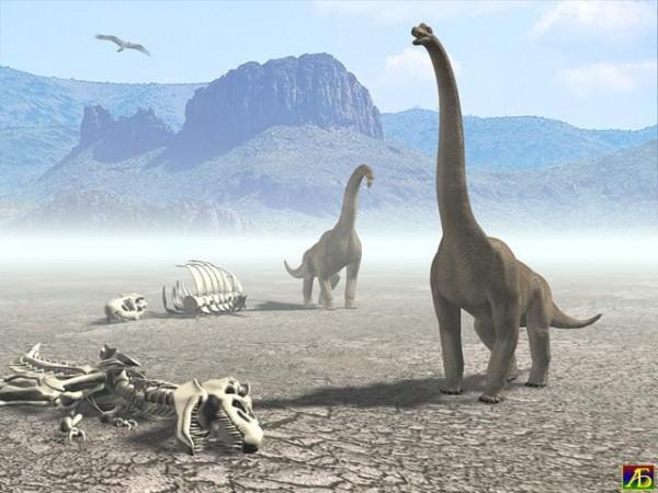 Ученые считают, что динозавры вымерли бы и без метеорита