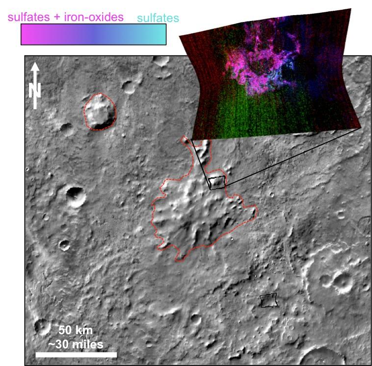 Астрофизики отыскали свидетельства вулканов подо льдом старинного Марса