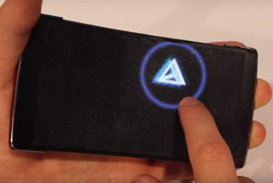 HoloFlex— сгибаемый смартфон сголографическим дисплеем
