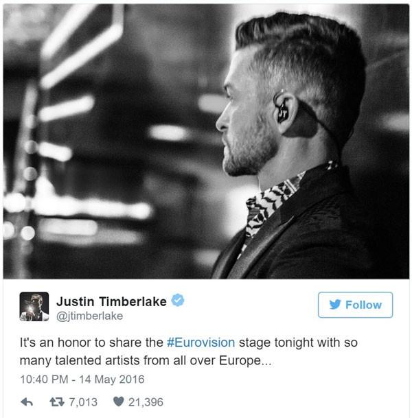 Во время финала Евровидения-2016 был установлен новый рекорд в Twitter