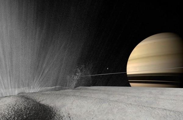 Cassini продемонстрировал новые данные ледяного шлейфа Энцелада