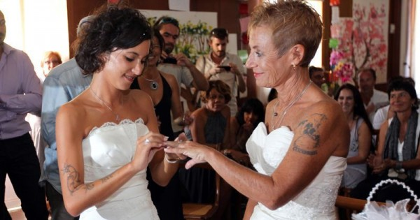 Фото лесби свадьба