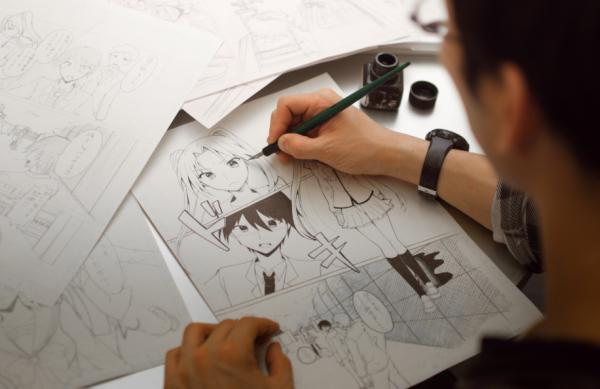 Как рисуют людей в японии