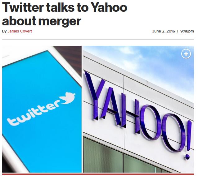 СМИ проинформировали о вероятном объединении социальная сеть Twitter иYahoo