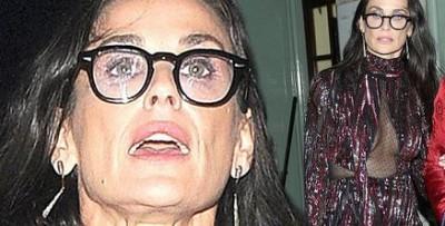 Деми Мур показалась на публике в удручающем внешнем виде