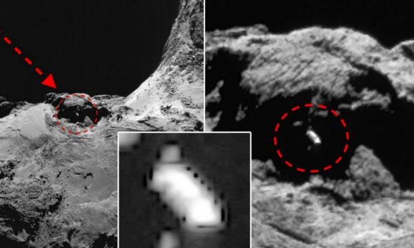 На комете Чурюмова-Герасименко «припарковался» инопланетный космический корабль