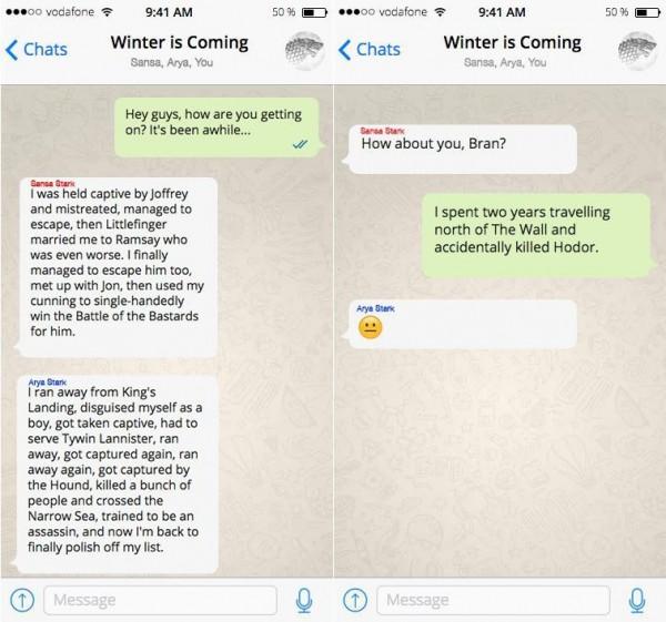 Персонажи «Игры престолов» пообщались в Facebook, Twitter и Instagram
