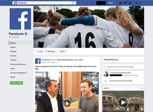 Facebook тестирует дизайн публичных страниц