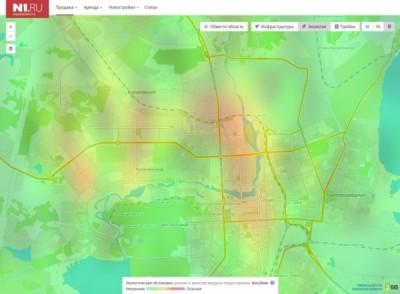 В Челябинске запустили сервис для поиска жилья на экологической карте