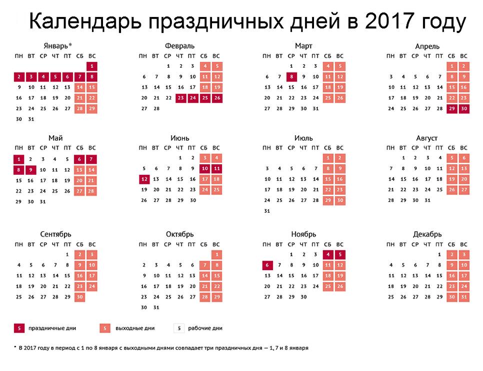 Новогодние выходные в будущем 2017г перенесли нафевраль имай