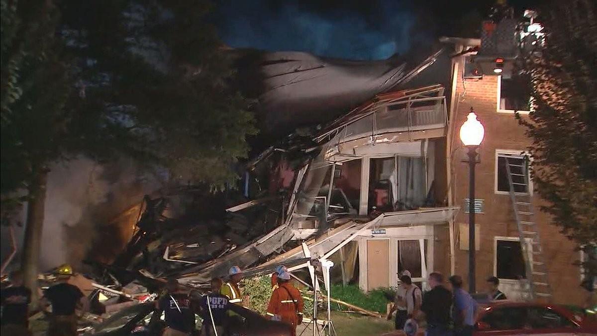 При взрыве жилого дома вСША пострадали около 20 человек