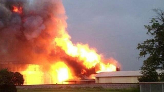 ВТехасе нанефтеперерабатывающем заводе произошел пожар