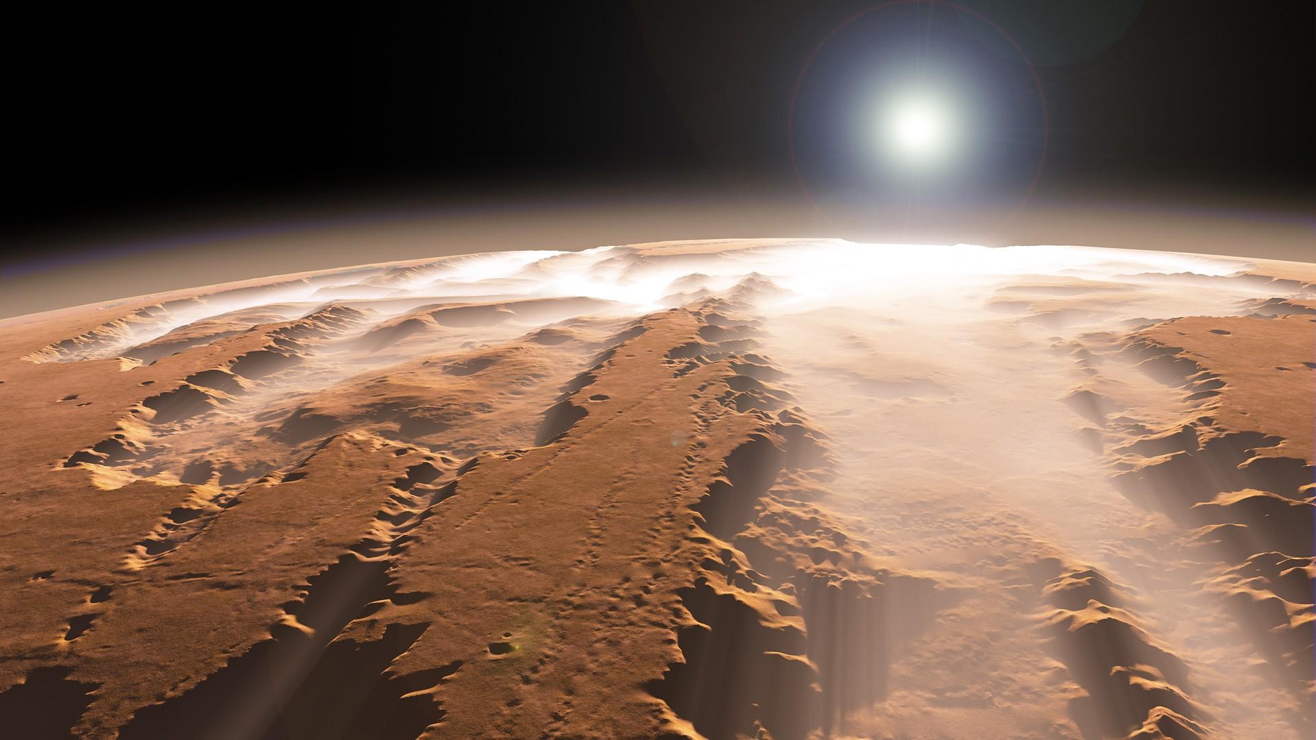 На Марсе под толстым слоем пыли нашли ледники