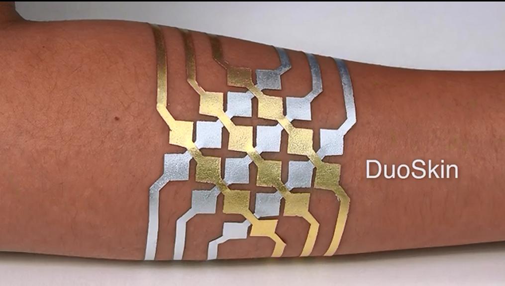 DuoSkin: «временная татуировка», которая может управлять телефоном