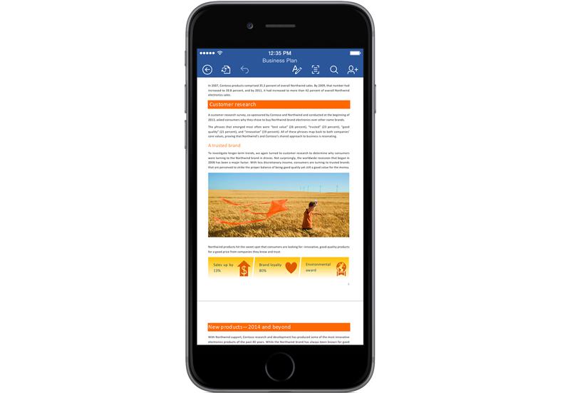 Microsoft Office для iPhone получил поддержку рисования пальцем