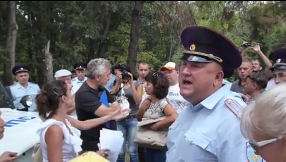 Организатор митинга оппозиции вСимферополе сказал оразгоне акции полицейскими