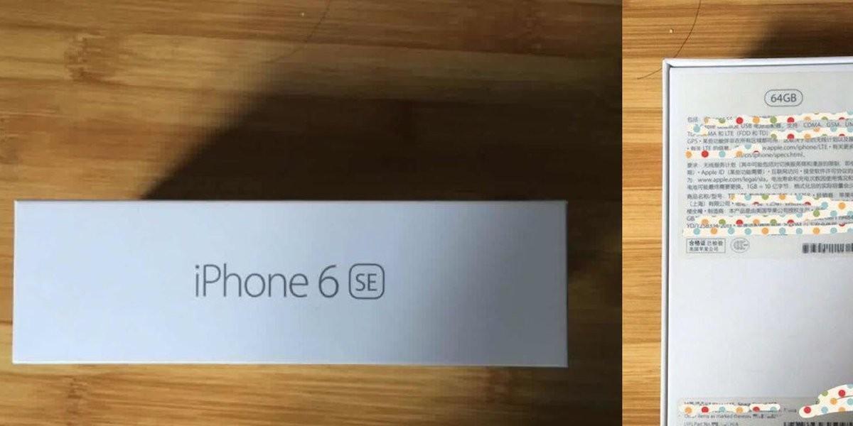 Размещены фотографии упаковки отнового iPhone… iPhone 6 SE