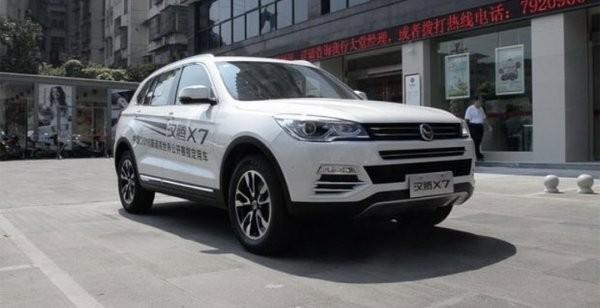 На китайских автомобильных рынках появится новый кроссовер Hanteng X7