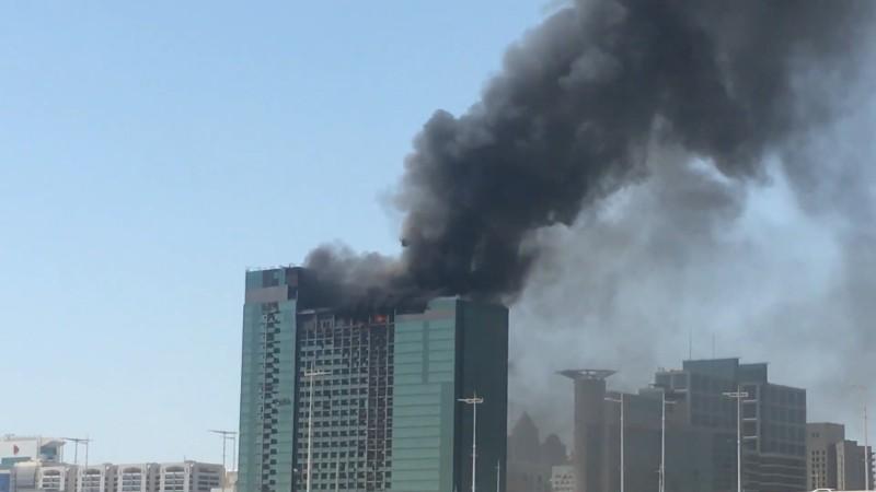 Встроящемся небоскребе вОАЭ произошел пожар