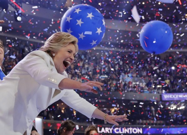 На выступлении Клинтон заметили отца террориста из Орландо