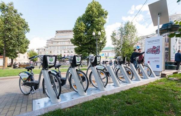 Москвичи смогут узнать количество свободных велосипедов настанциях проката