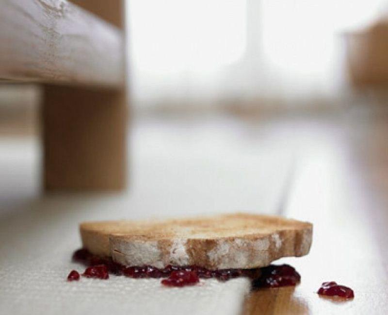 Ученые опровергли «правило 5-ти секунд» для упавшей напол еды
