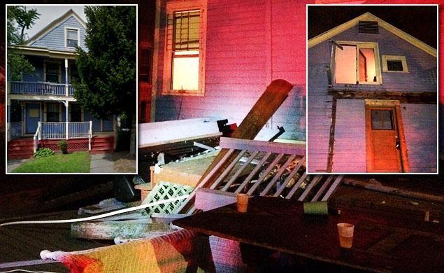 ВСША при обрушении дома навечеринке пострадали неменее 30-ти студентов