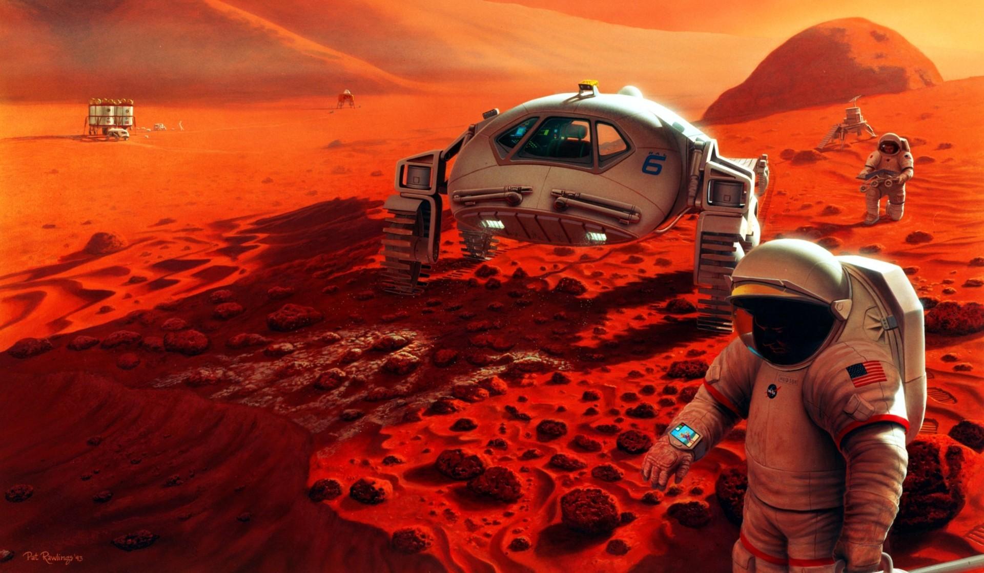 Бактерии помогут астронавтом создавать наМарсе еду ивещи