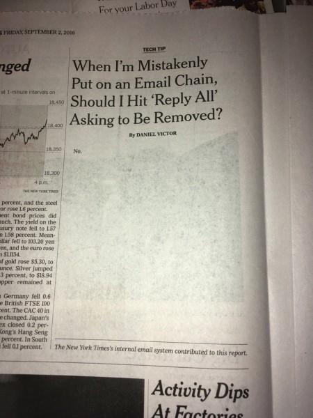 New York Times опубликовал статью, состоящую из одного слова