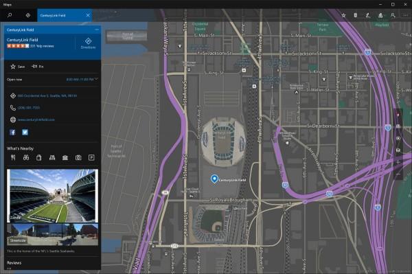 Карты от Windows получили обновление с поддержкой тёмной темы