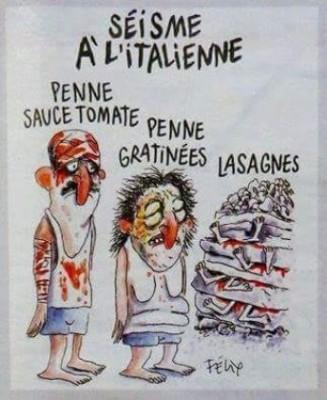 Charlie Hebdo высмеял жертв землетрясения в Италии
