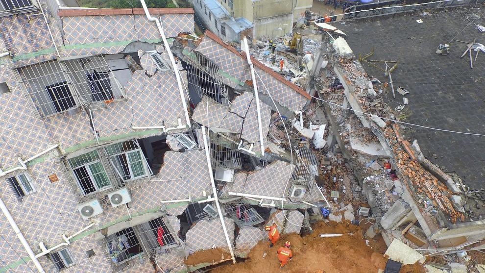 Два жилых здания обрушились насеверо-западе Китая