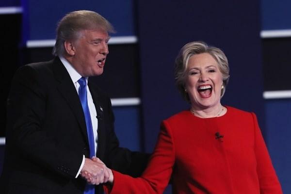 Клинтон чуть неупала состула отпросмотра пародии нателедебаты