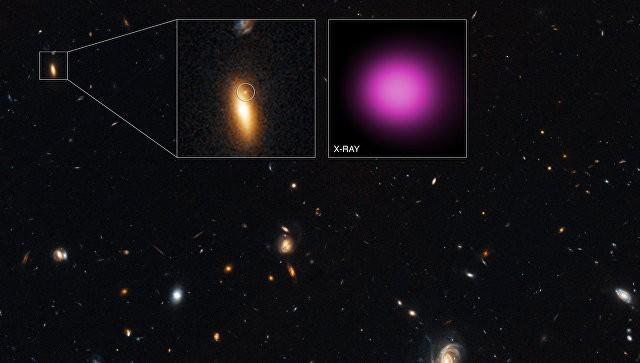 Ученые обнаружили блуждающую черную дыру